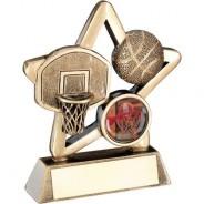Bronze/Gold Basketball Mini Star Trophy