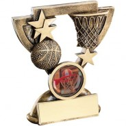 Bronze/Gold Basketball Mini Cup Trophy