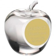 Clear Glass 'Apple' Paperweight Trophy