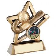 Bronze/Gold Hockey Mini Star Trophy