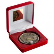 Red Velvet Box and 60mm Hockey Medal