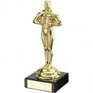 Gold Plastic and Marble Achievement Trophy