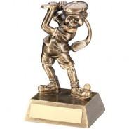 Bronze/Gold Male Comic Golf Figure Trophy