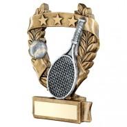 Bronze / Pewter Tennis 3 Star Wreath Trophy