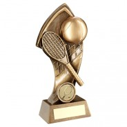 Bronze / Gold Tennis with Twisted Backdrop Trophy