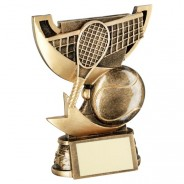 Bronze/Gold Cup Range For Tennis Trophy
