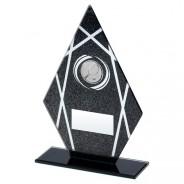 Black Printed Glass Diamond with Tennis Insert