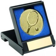 Black Plastic Box With Tennis Insert Trophy