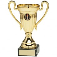 Gold Plastic Lined Cup Trophy