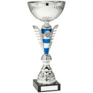 Silver/Blue Stripey Stem Trophy