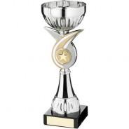 Silver/Matt Gold Whirl Stem Trophy