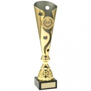 Gold Metal Swirl and Dot Trophy
