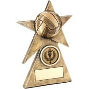Bronze/Gold Gaelic Football Star on Pyramid Base Trophy