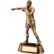 Bronze/Gold Resin Referee Figure Trophy