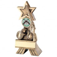 Bronze/Gold Rifle and Clay Shooting Star Trophy