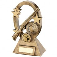 Bronze/Gold Shooting Oval/Stars Series Trophy