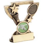 Bronze/Gold Badminton Mini Cup Trophy