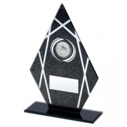 Black Printed Glass Diamond with Badminton Insert