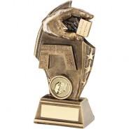 Bronze/Gold Dominoes Curved Plaque Trophy