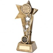 Bronze/Gold Darts Twisted Star Column Trophy