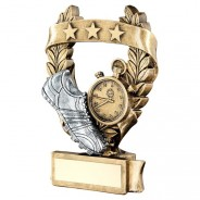 Bronze / Pewter Athletics 3 Star Wreath Trophy