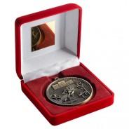 Red Velvet Box and 60mm Athletics Medal
