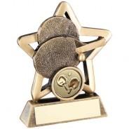 Bronze/Gold Table Tennis Mini Star Trophy