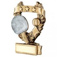 Bronze / Pewter Table Tennis 3 Star Wreath Trophy