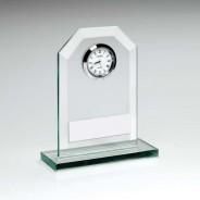 Jade Glass Clock Trophy