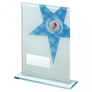White Printed Glass Rectangle with Rugby Insert