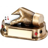 Bronze/Gold/Multi Cards Hand Trophy