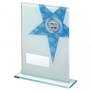 White Printed Glass Plaque with Cards Insert