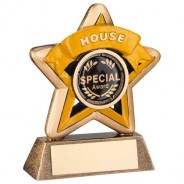 Mini Star 'House' Trophy - Bronze/Gold/Yellow