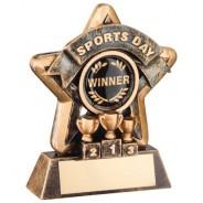 Mini Star 'Sports Day' Trophy - Bronze/Gold Sports Day