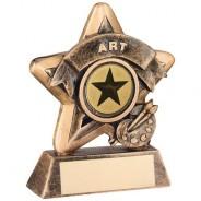 Mini Star 'Art' Trophy - Bronze/Gold Art