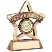 Bronze/Gold Resin 'Achievement' Mini Star Trophy