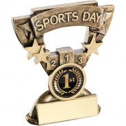 Bronze/Gold Sports Day Mini Cup Trophy