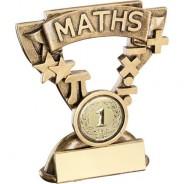 Bronze/Gold Maths Mini Cup Trophy