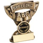 Bronze/Gold Spelling Mini Cup Trophy