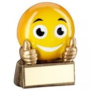 Yellow Thumbs Up Emoji Trophy