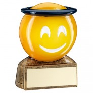 Yellow Halo Emoji Trophy
