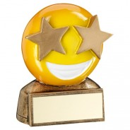 Yello Star Eyes Emoji Trophy