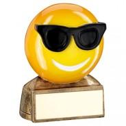 Yellow Sunglasses Emoji Trophy