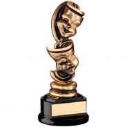 Bronze/Gold/Black Drama Masks Trophy