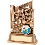 Bronze/Gold Drama Diamond Series Trophy