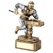Bronze / Pewter Pool / Snooker 'Beast' Figure Trophy