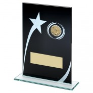 Black Printed Glass Plaque with Pool / Snooker Insert