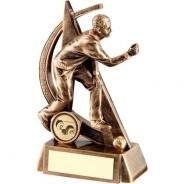 Bronze/Gold Male Lawn Bowls Geo Figure Trophy