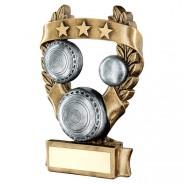 Bronze / Pewter Bowls 3 Star Wreath Trophy