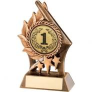 Bronze/Gold Leaf and Stars Holder Trophy